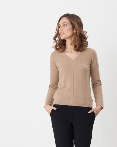 Heart taupe cashmere sweater (1) - 1-2-3