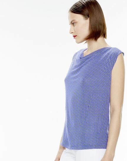 Top bleu imprimé pois Now (3) - 1-2-3
