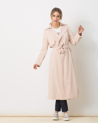 Kool long pastel pink trench coat (1) - 1-2-3