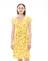 Ontario yellow printed dress lemon.