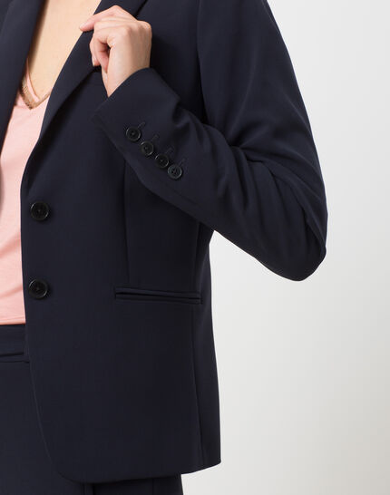 Eve Bis navy blue tailored jacket (5) - 1-2-3