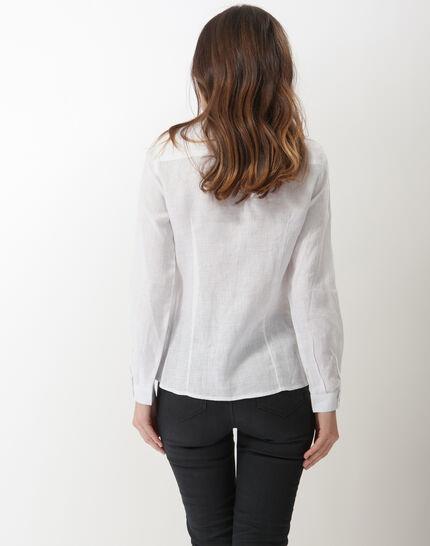 Dany white linen shirt (4) - 1-2-3