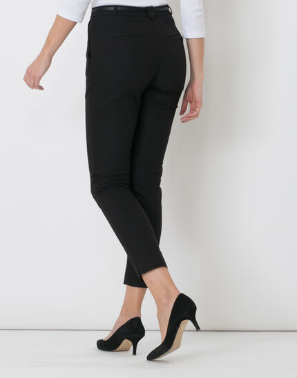 Pauline smart black trousers with belt (4) - 1-2-3