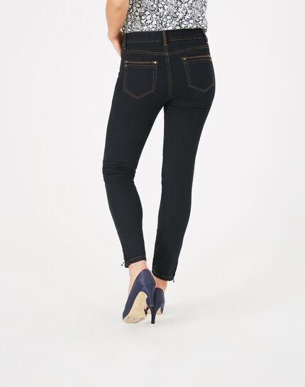 Pia 7/8th length black jeans (4) - 1-2-3