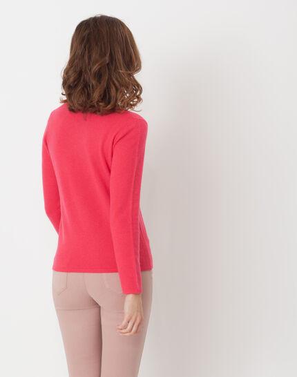 Heart fuchsia cashmere sweater (4) - 1-2-3