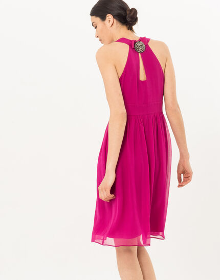 Florane pink silk dress with jewelled back (4) - 1-2-3