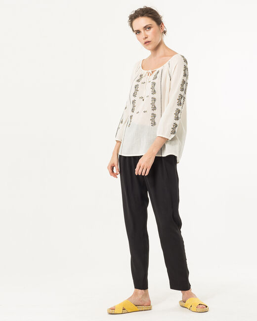 Enara ecru embroidered blouse (2) - 1-2-3