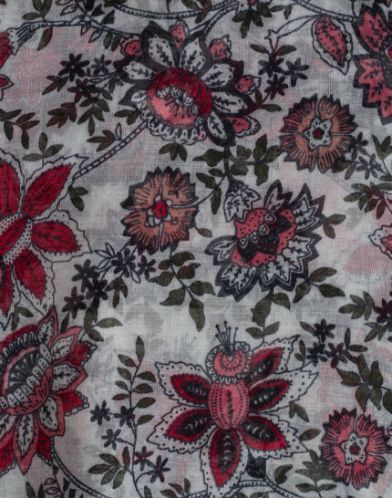 Salvia floral print scarf (3) - 1-2-3