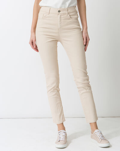Oliver 7/8 length coated powder pink trousers (1) - 1-2-3