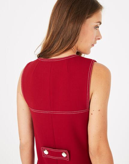 Robe compacte rouge Alix (4) - 1-2-3