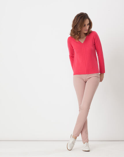 Heart fuchsia cashmere sweater (2) - 1-2-3