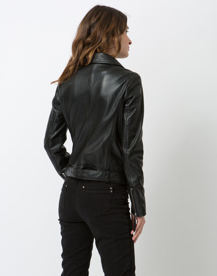 Gabriel black leather jacket (4) - 1-2-3