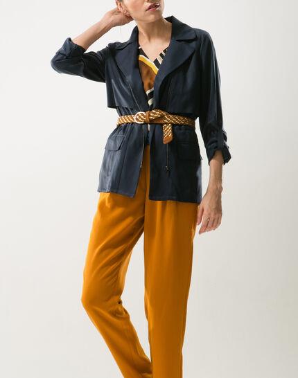 Yael camel braided leather belt (3) - 1-2-3