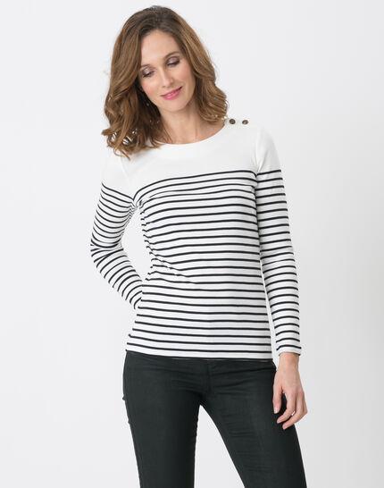 Naval striped navy blue T-shirt PhotoZ | 1-2-3