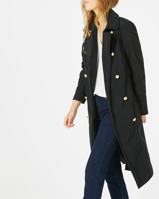 Trench mi long noir Jessy (1) - 1-2-3