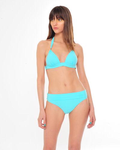 Haut de bikini triangle céladon avec ornement doré Julie (1) - 1-2-3