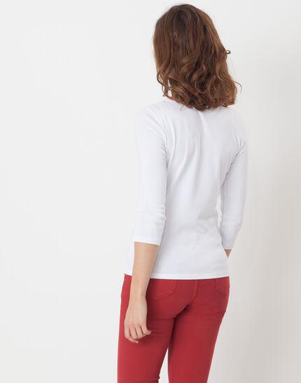 Noria white T-Shirt with embroidered neckline (3) - 1-2-3