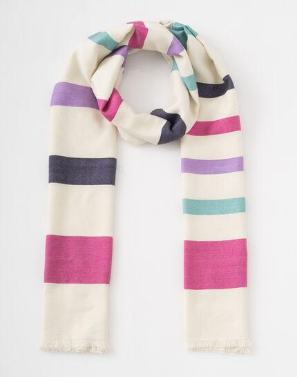 Samy graphic ecru scarf (2) - 1-2-3