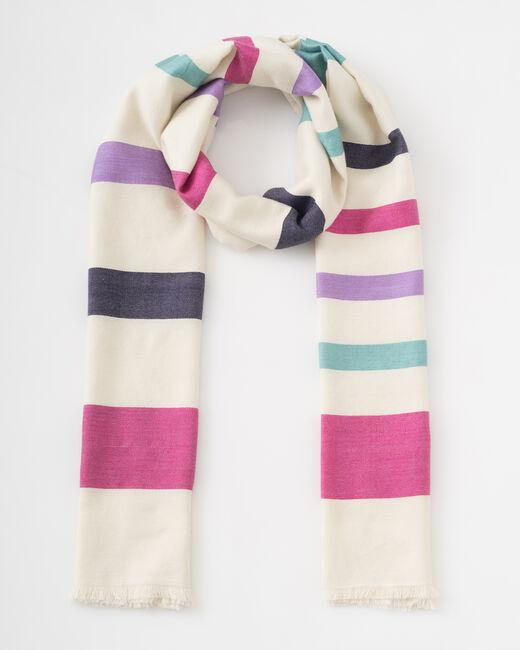 Samy graphic ecru scarf (1) - 1-2-3