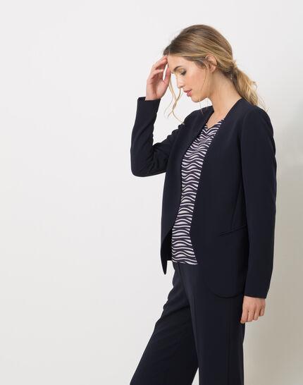 Maite belted navy blue jacket (3) - 1-2-3