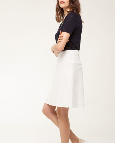 Clairon white linen skirt (1) - 1-2-3