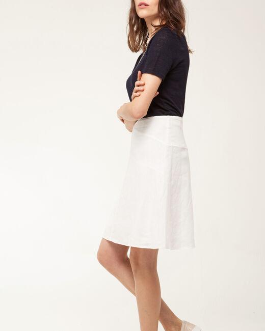 Clairon white linen skirt (1) - 1-2-3