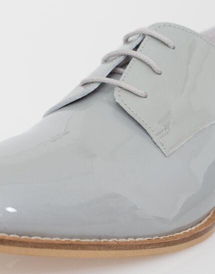Jamie Derbies in grey patent leather (4) - 1-2-3