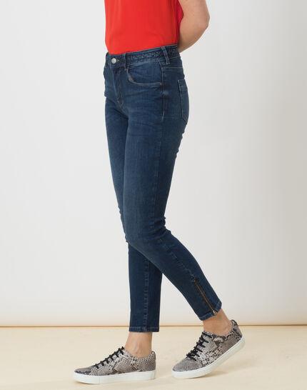 Xabi stonewashed 7/8 jeans with braided belt (3) - 1-2-3