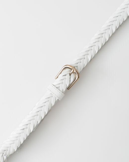 Ceinture tressée blanche en cuir Yoyo (2) - 1-2-3