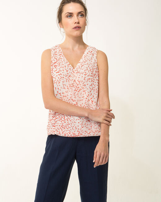 Effigie red printed top (1) - 1-2-3