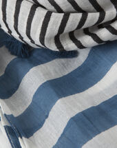 Sailor striped cotton blue scarf blue.