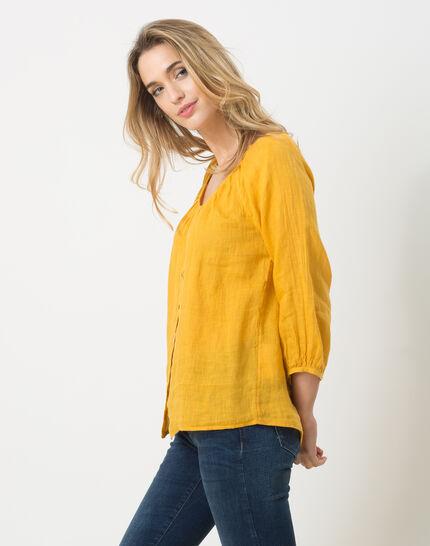 Erina yellow linen shirt (3) - 1-2-3