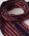 Salvatore coral cotton printed scarf (1) - 1-2-3