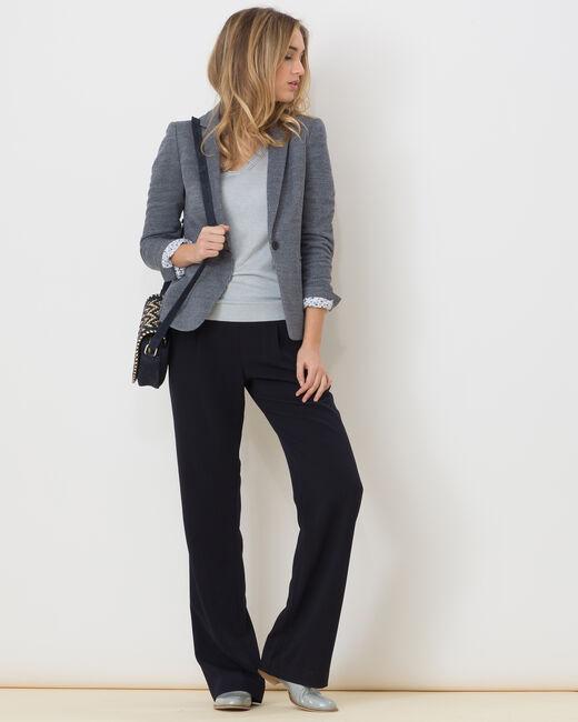 Veste de tailleur bleue Anne (1) - 1-2-3