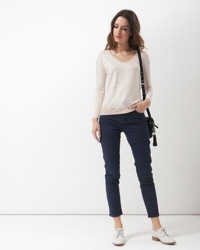Pantalon bleu imprimé Oliver (1) - 1-2-3
