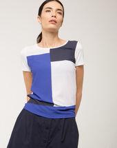 Nano graphic print t-shirt royal blue.