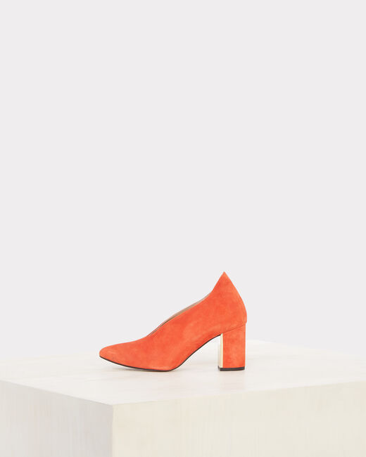 Naomi orange leather heels (2) - 1-2-3