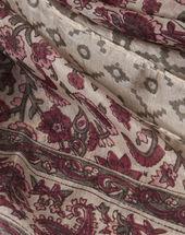 Suzon fuchsia silk printed scarf dark fuchsia.