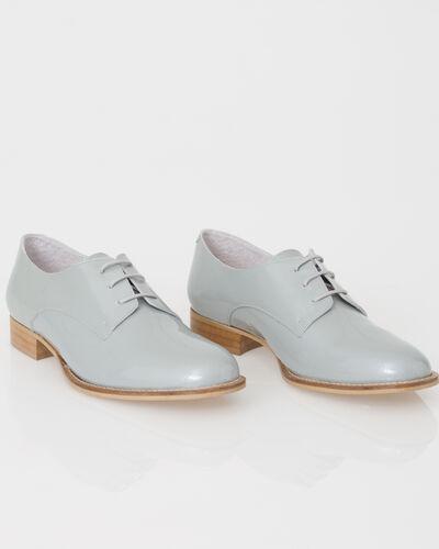 Jamie Derbies in grey patent leather (1) - 1-2-3