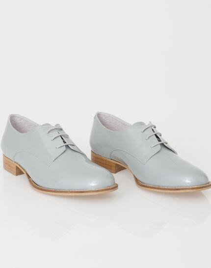 Jamie Derbies in grey patent leather (2) - 1-2-3
