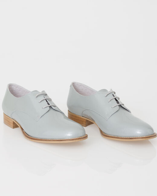 Jamie Derbies in grey patent leather (1) - 1-2-3