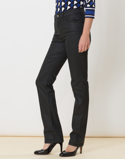 Victor black coated straight-cut jeans (3) - 1-2-3
