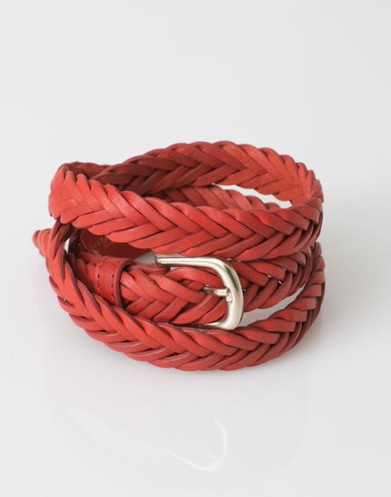 Yoyo red braided leather belt (3) - 1-2-3