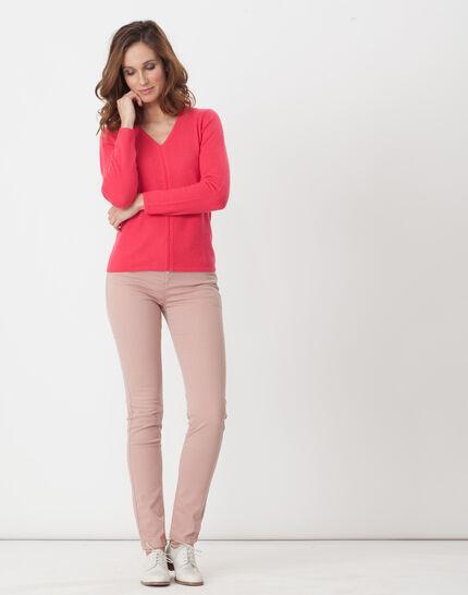 William powder pink satin trousers (2) - 1-2-3