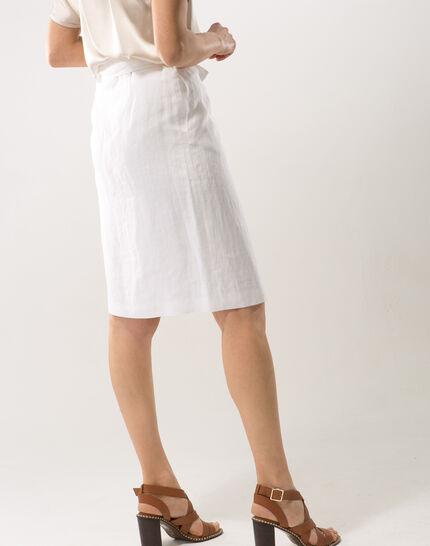 Dahalia white linen skirt (4) - 1-2-3