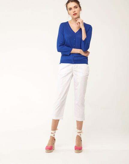 Filibert light white cropped trousers (2) - 1-2-3