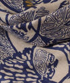Stacy floral indigo printed scarf PhotoZ | 1-2-3