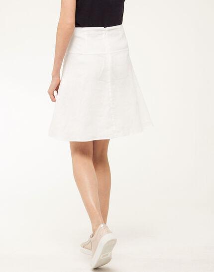 Clairon white linen skirt (3) - 1-2-3
