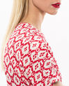 Birdy red, printed, embroidered dress (5) - 1-2-3