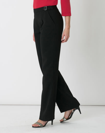 Rythme black trousers with buckle at the belt (3) - 1-2-3
